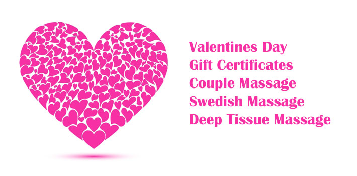 Valentines Day Massage Gift Certificate