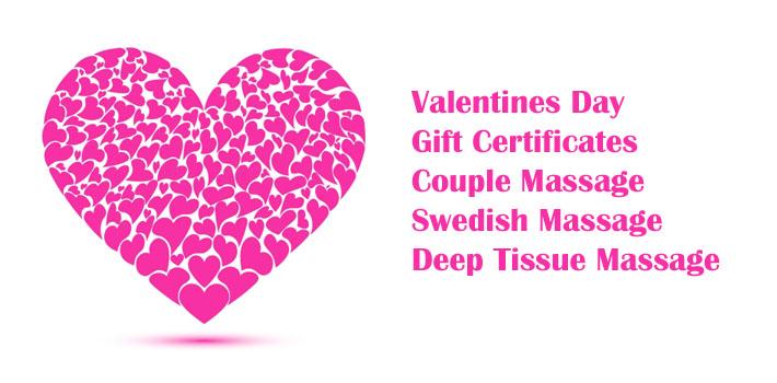 Valentines Day Massage Gift Certificate